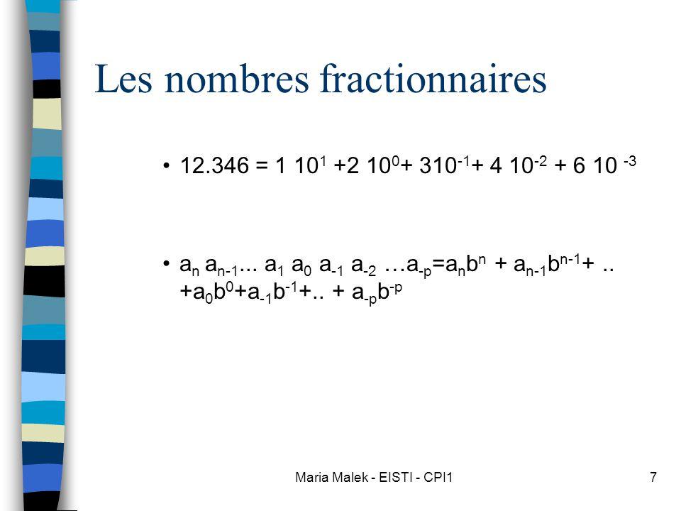 Les nombres fractionnaires