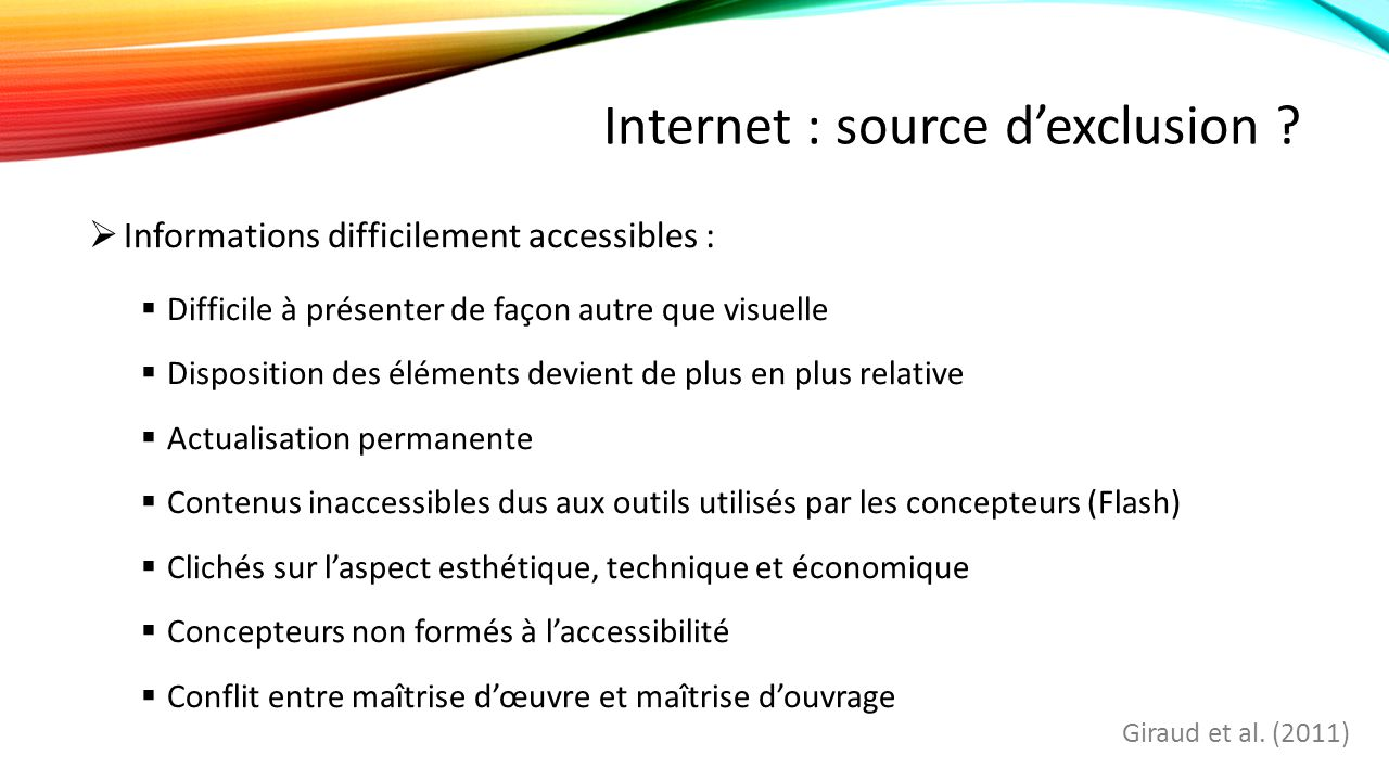 Internet : source d'exclusion