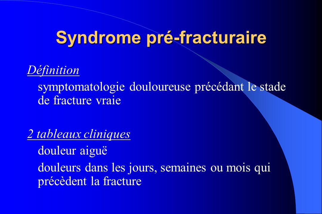 Syndrome pré-fracturaire