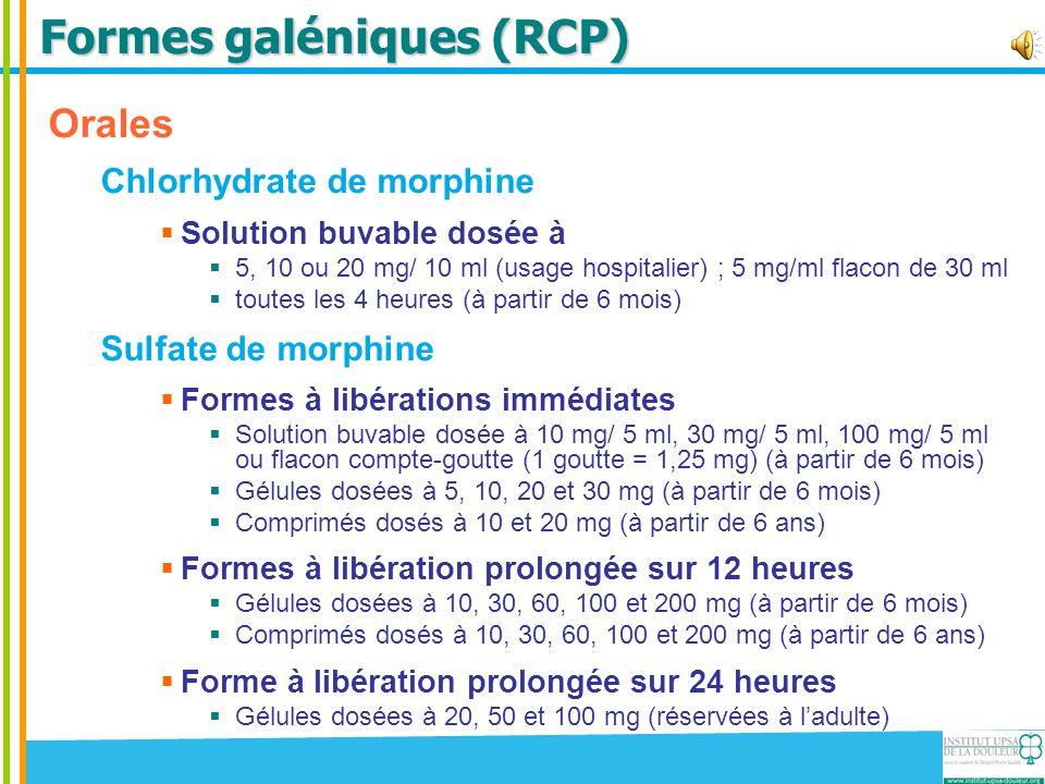 Formes galéniques (RCP)