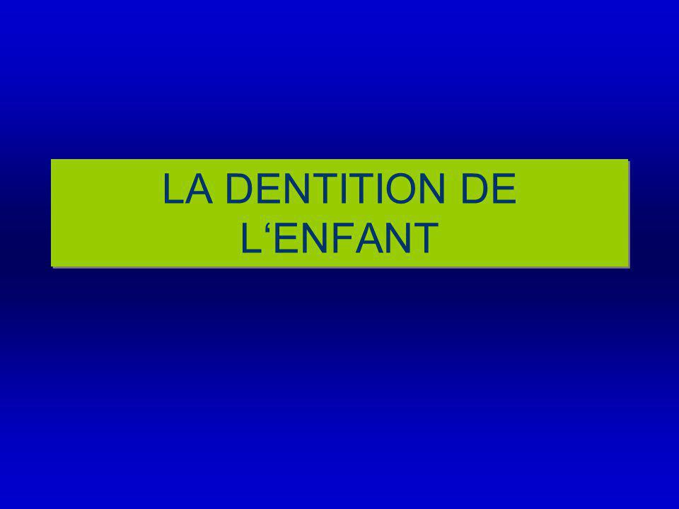 LA DENTITION DE L'ENFANT