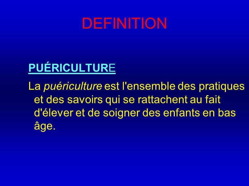 DEFINITION PUÉRICULTURE