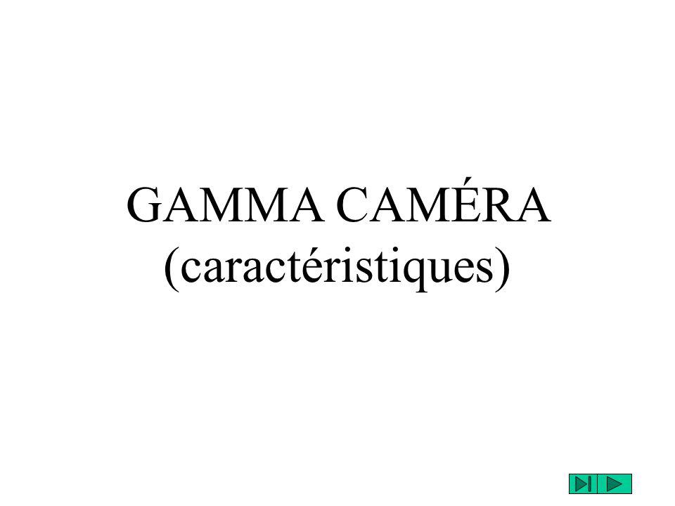 GAMMA CAMÉRA (caractéristiques)