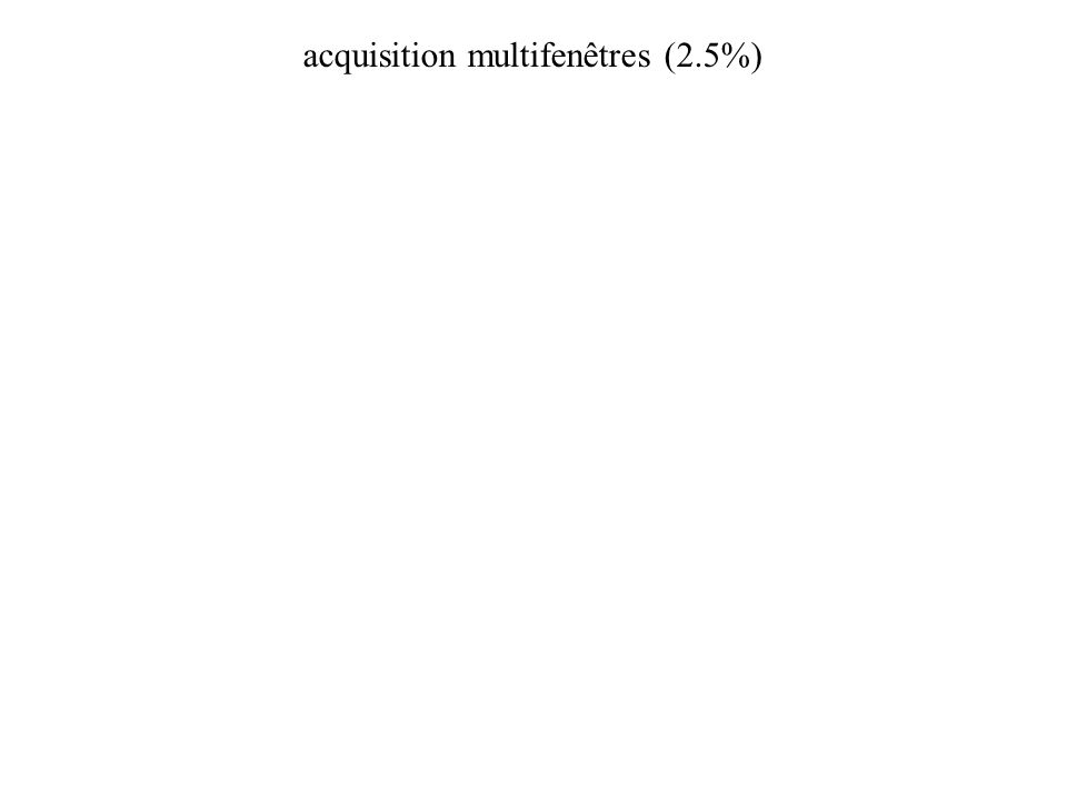acquisition multifenêtres (2.5%)