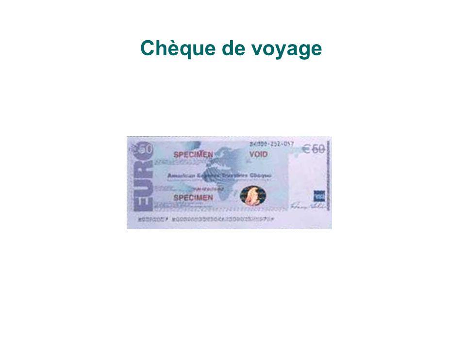 Chèque de voyage