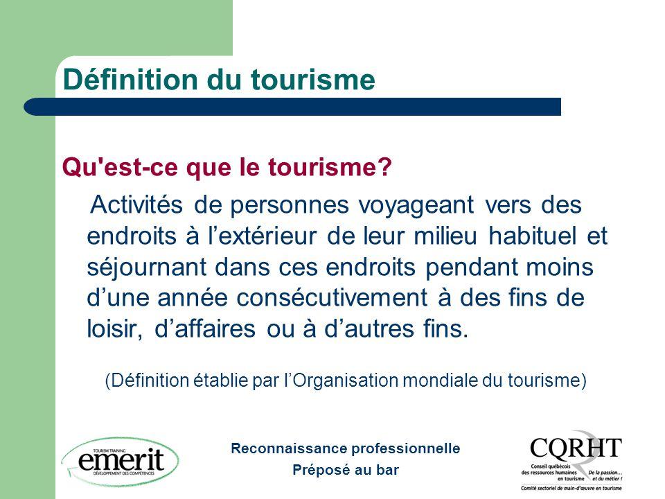 Définition du tourisme