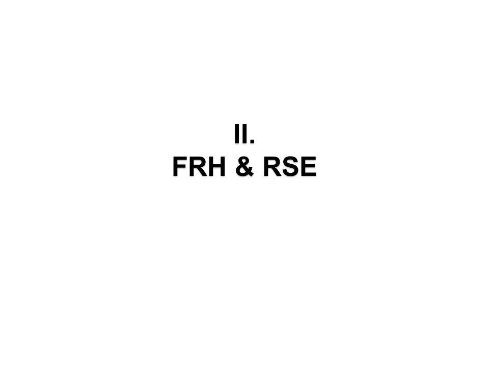 II. FRH & RSE