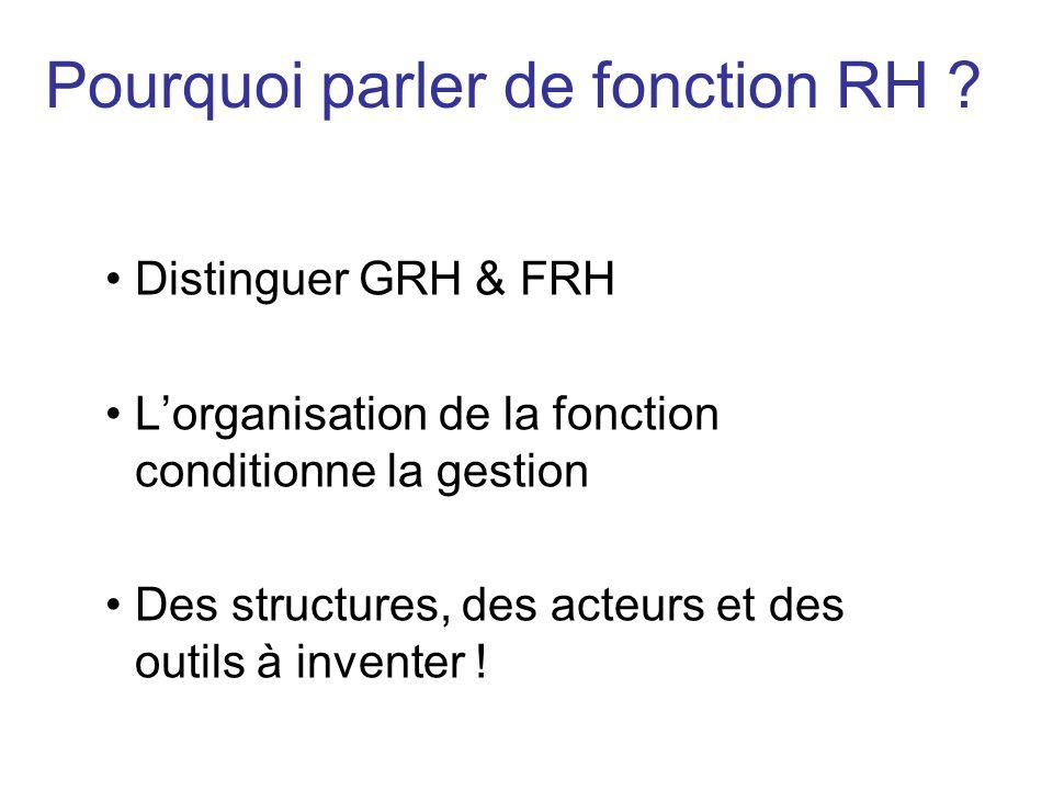 Pourquoi parler de fonction RH