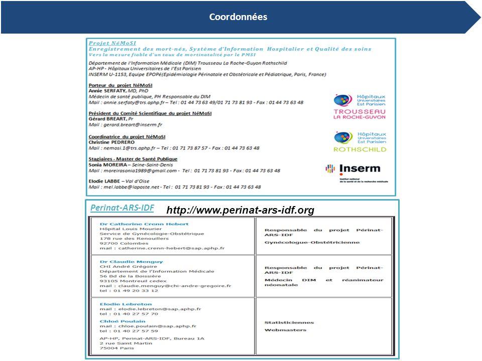 Coordonnées Perinat-ARS-IDF http://www.perinat-ars-idf.org