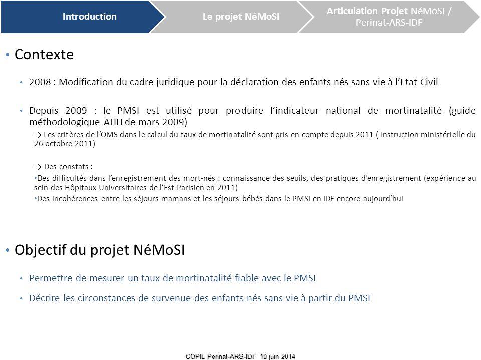 Objectif du projet NéMoSI