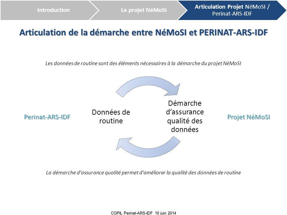 Articulation de la démarche entre NéMoSI et PERINAT-ARS-IDF