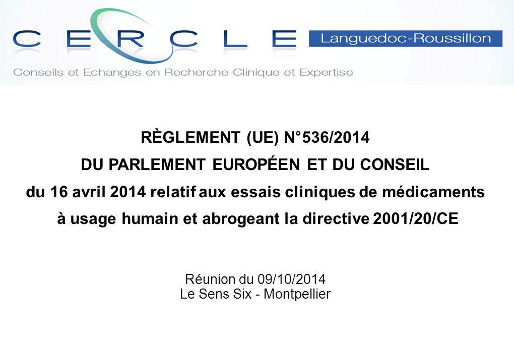 Réunion du 09/10/2014 Le Sens Six - Montpellier