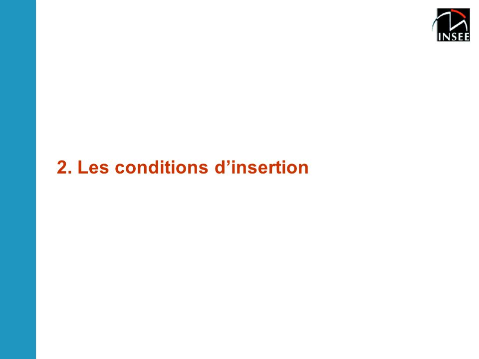 2. Les conditions d'insertion
