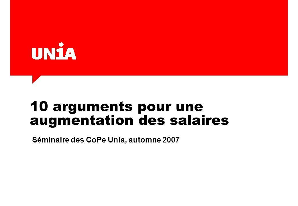 10 arguments pour une augmentation des salaires