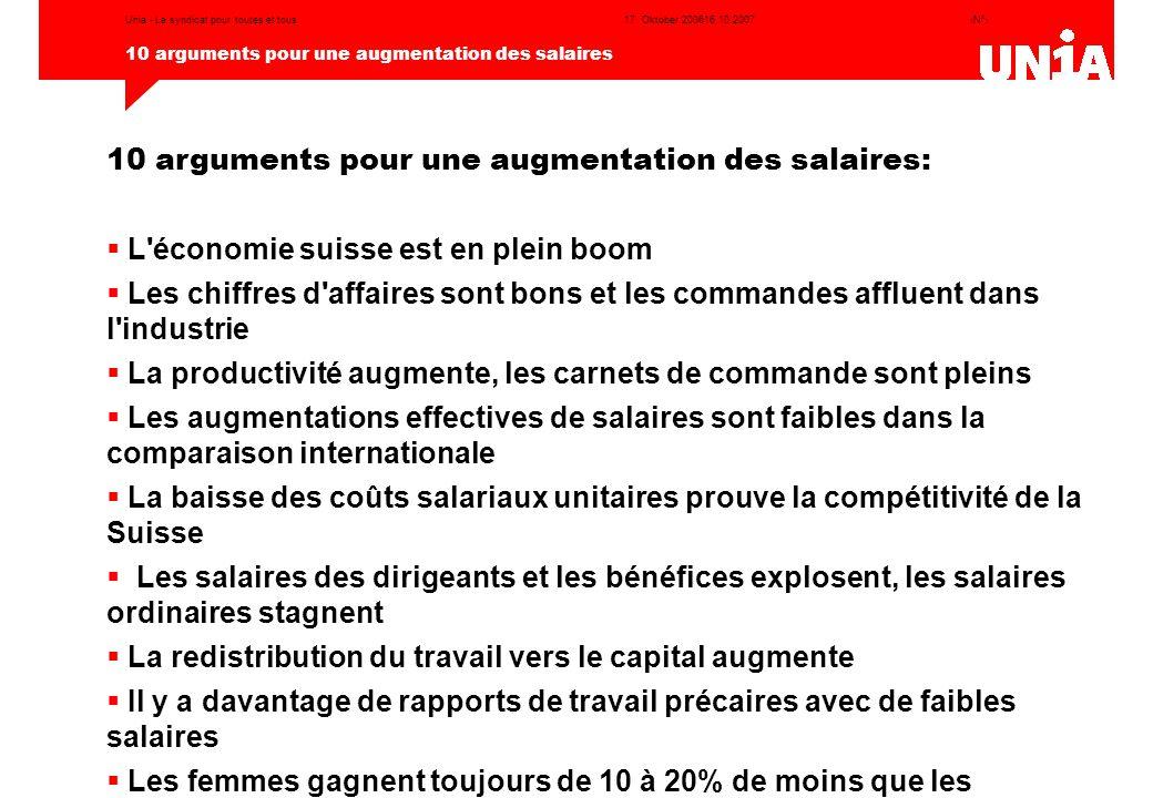 10 arguments pour une augmentation des salaires: