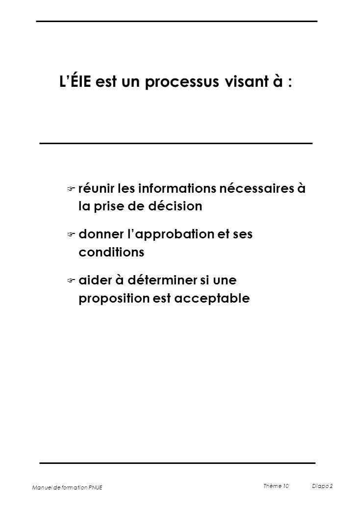 L'ÉIE est un processus visant à :