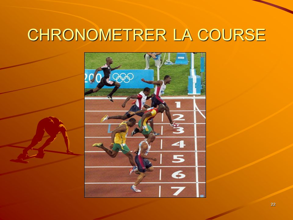 CHRONOMETRER LA COURSE