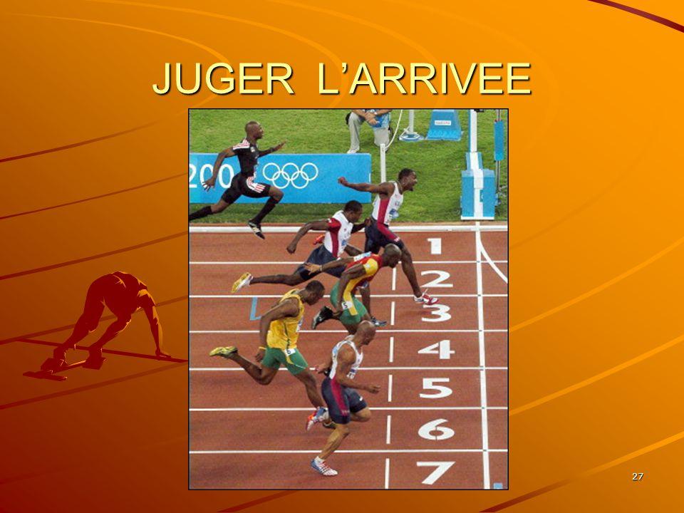 JUGER L'ARRIVEE