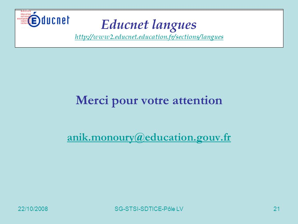 Educnet langues http://www2.educnet.education.fr/sections/langues