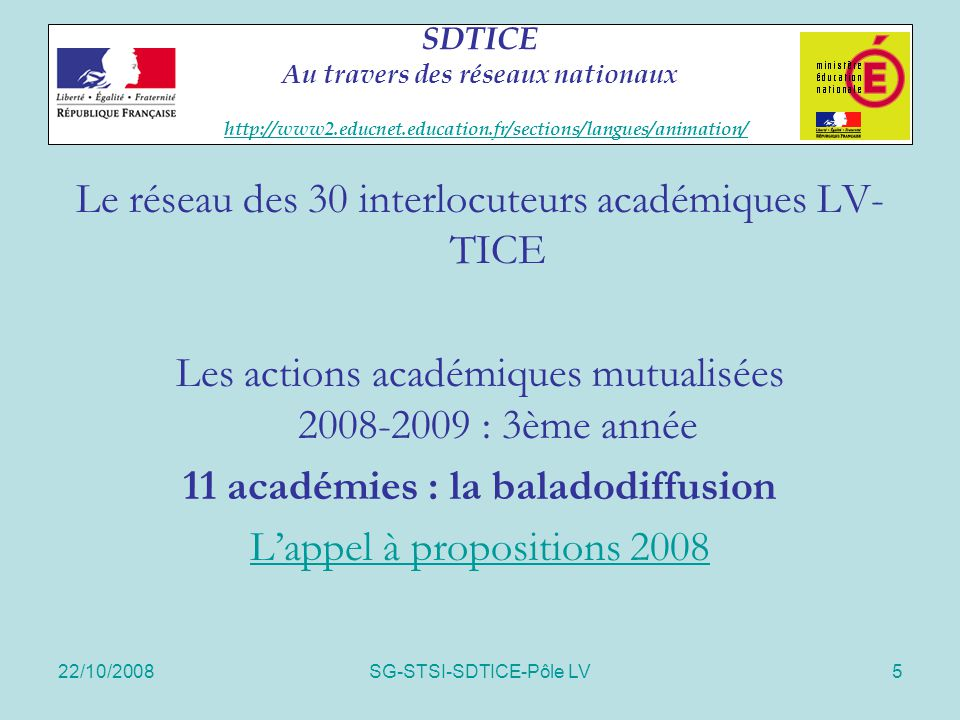11 académies : la baladodiffusion