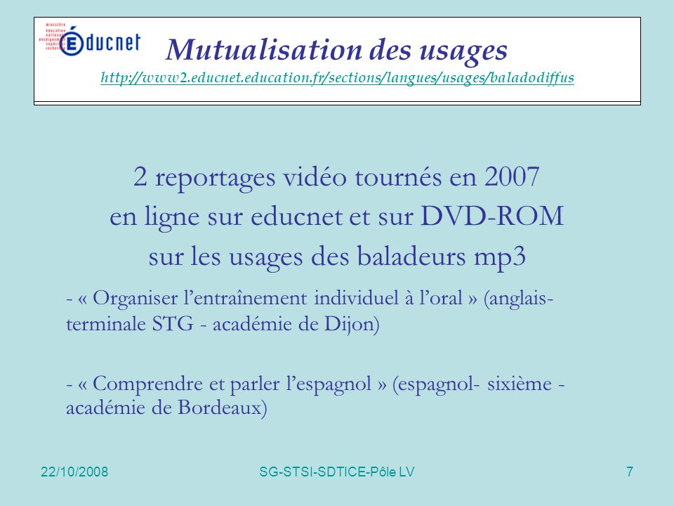 Mutualisation des usages http://www2. educnet. education