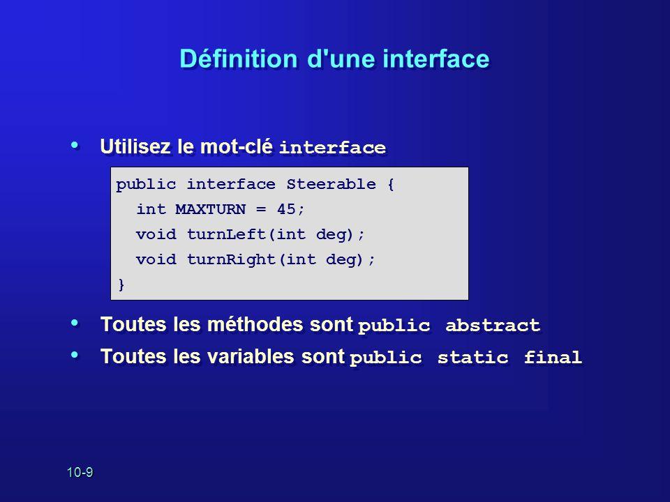 Définition d une interface