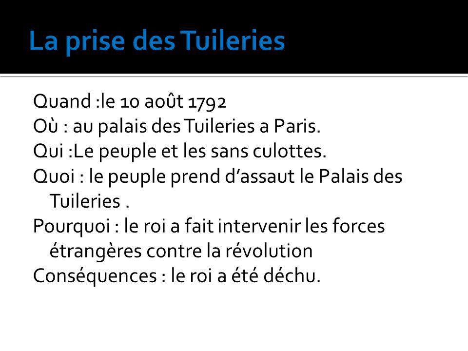 La prise des Tuileries