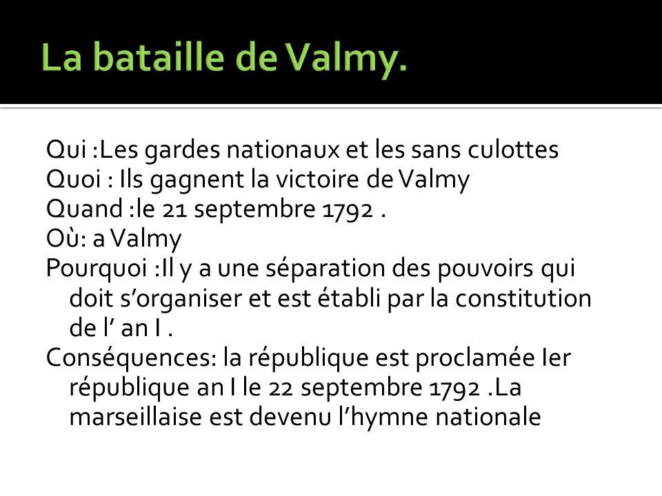 La bataille de Valmy.