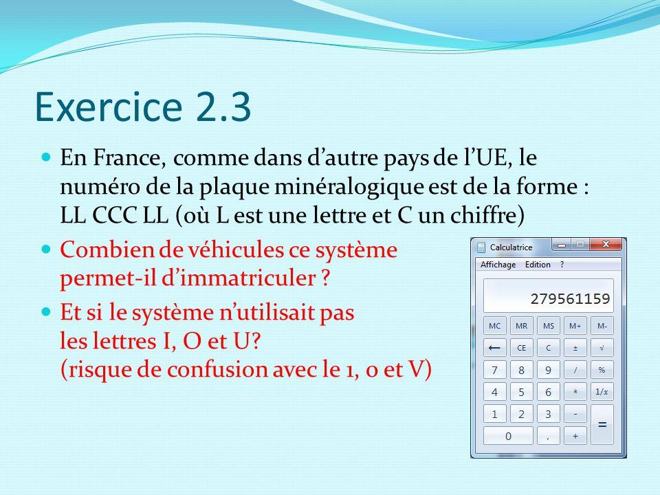 Exercice 2.3