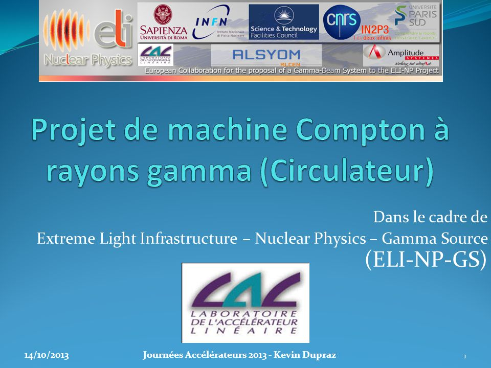 Projet de machine Compton à rayons gamma (Circulateur)