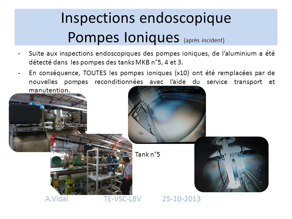 Inspections endoscopique Pompes Ioniques (après incident)