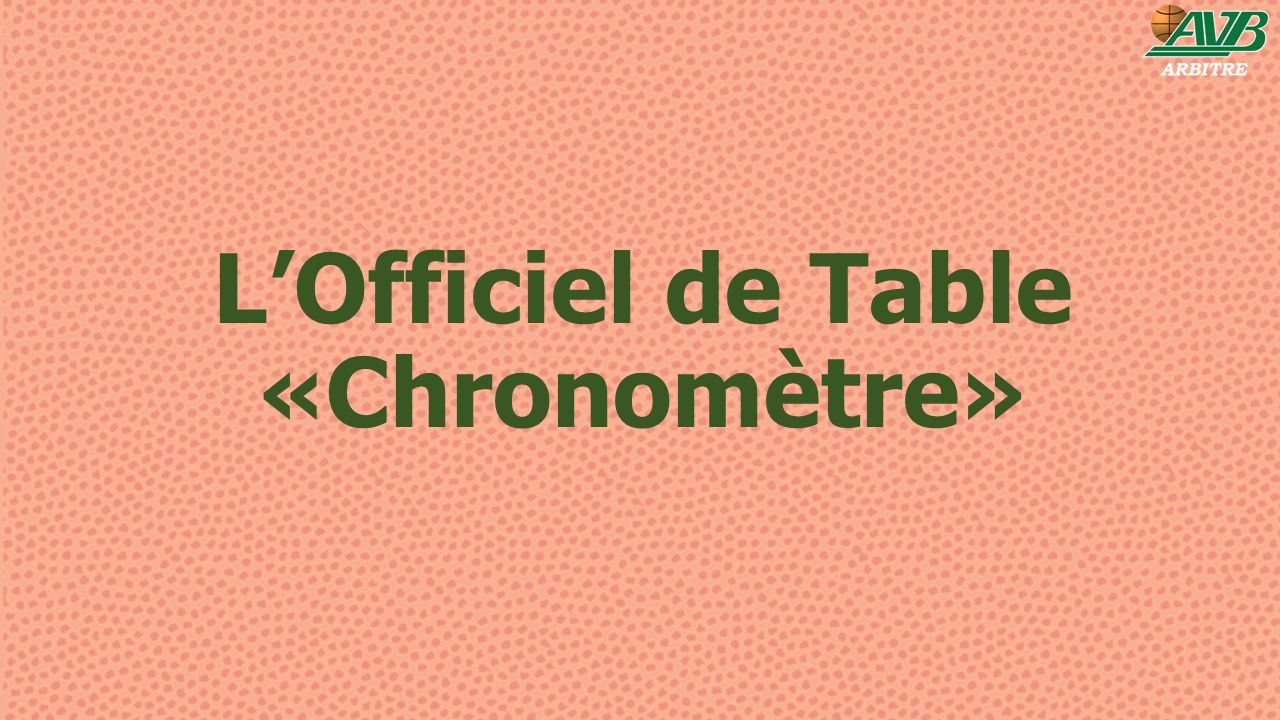 L'Officiel de Table «Chronomètre»