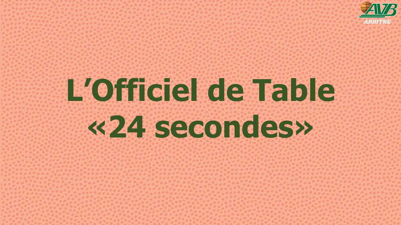 L'Officiel de Table «24 secondes»