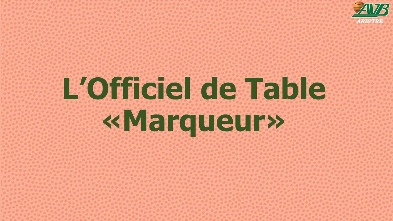 L'Officiel de Table «Marqueur»