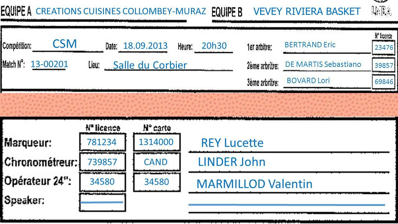 CSM REY Lucette LINDER John MARMILLOD Valentin Salle du Corbier