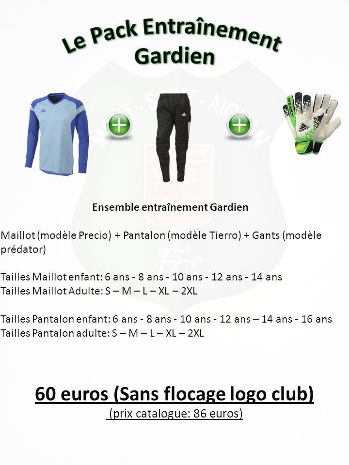 Ensemble entraînement Gardien 60 euros (Sans flocage logo club)