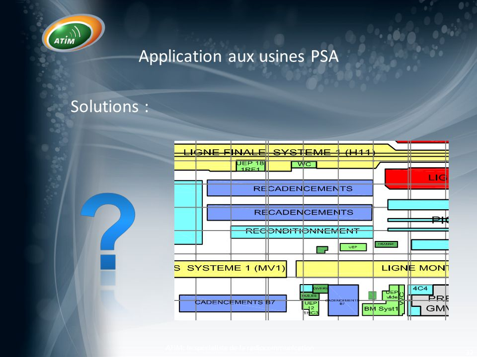 Application aux usines PSA