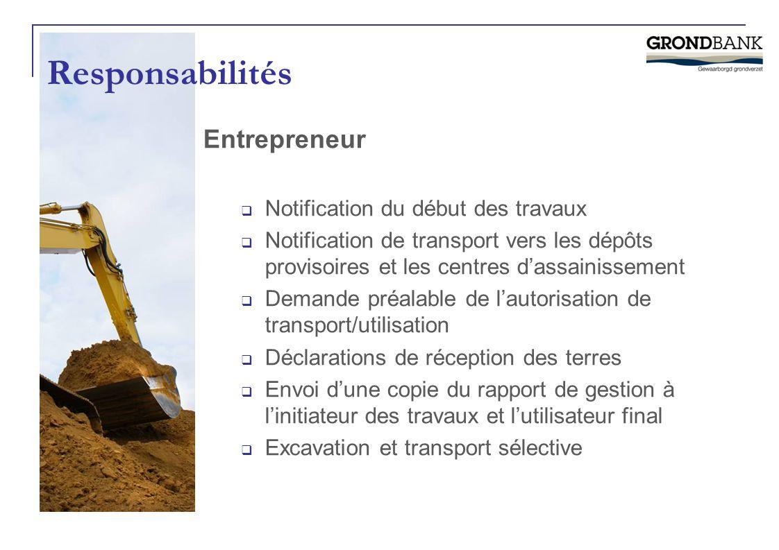 Responsabilités Entrepreneur Notification du début des travaux