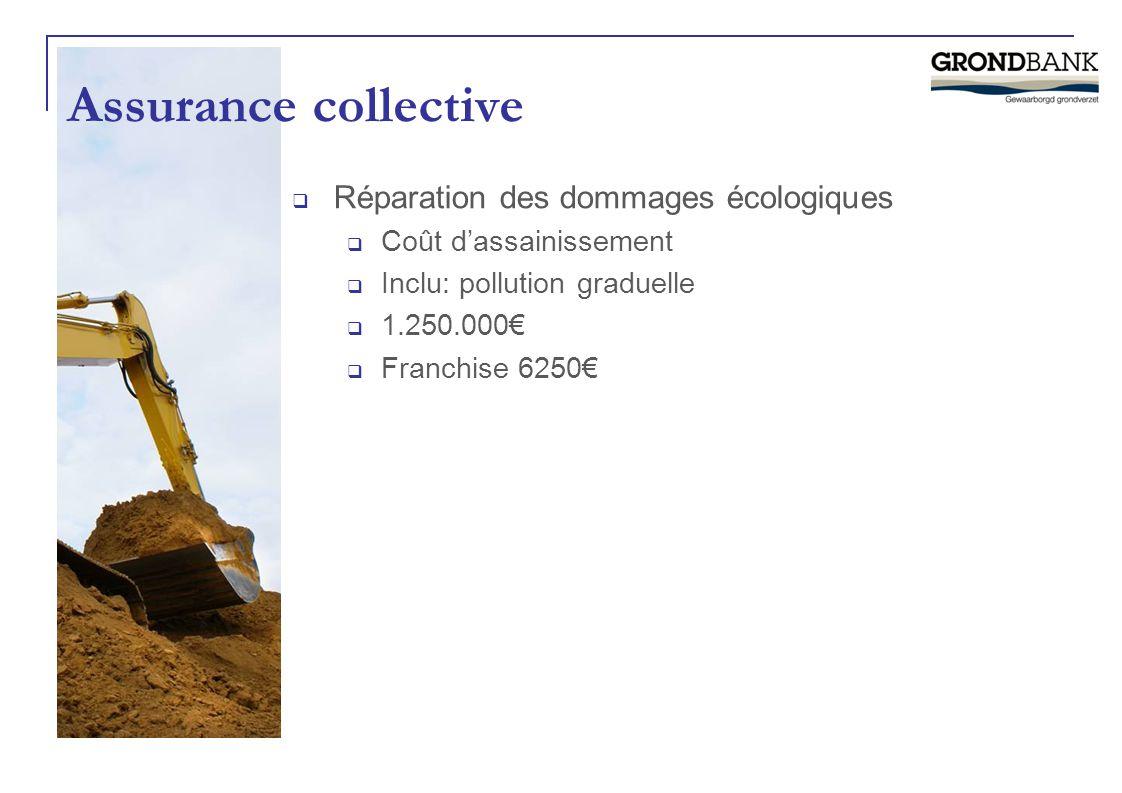 Assurance collective Réparation des dommages écologiques