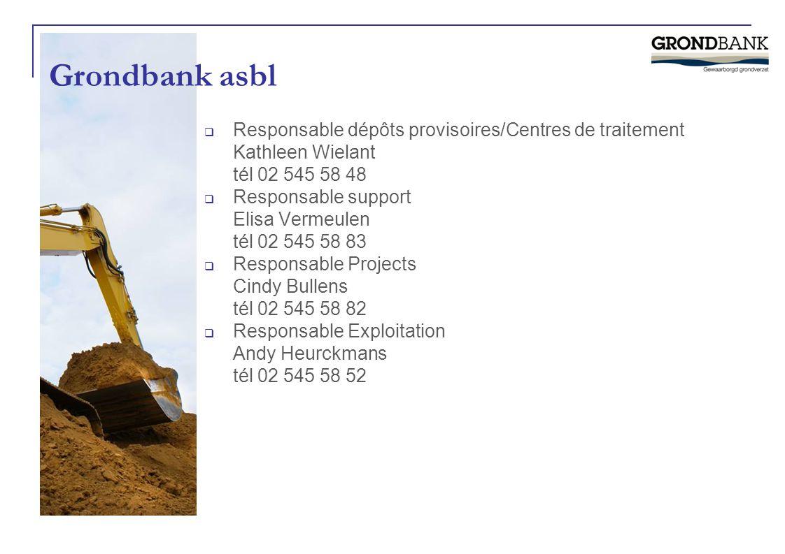 Grondbank asbl Responsable dépôts provisoires/Centres de traitement