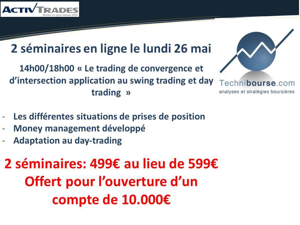 2 séminaires: 499€ au lieu de 599€