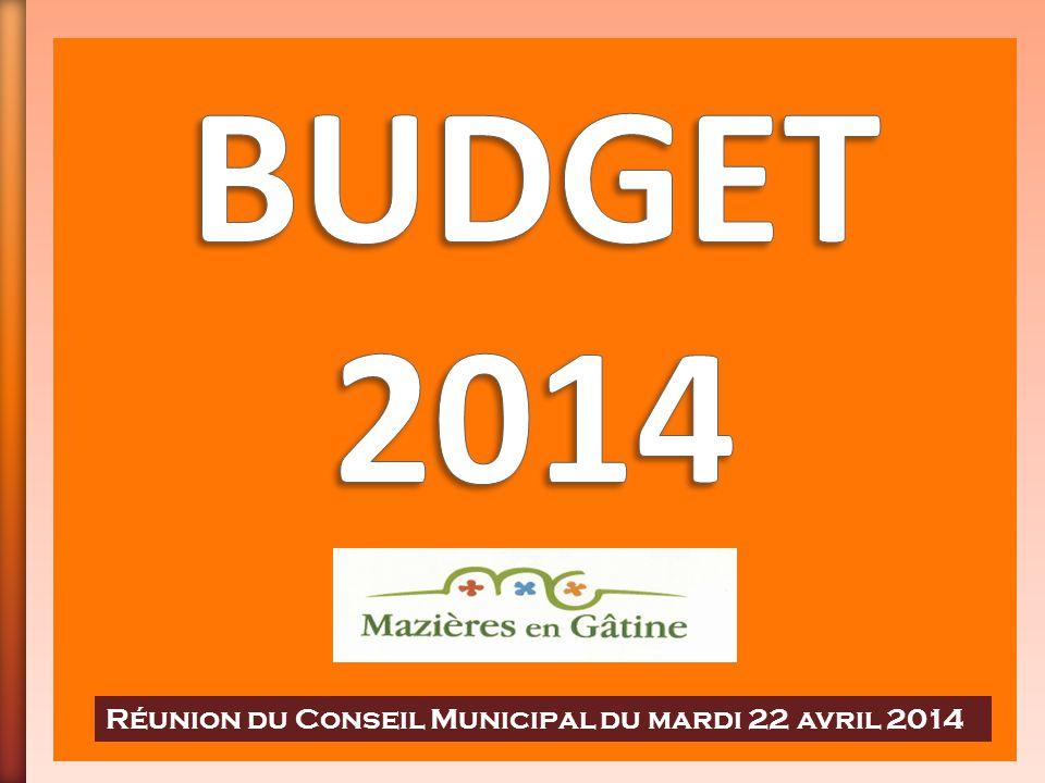 BUDGET 2014 Réunion du Conseil Municipal du mardi 22 avril 2014