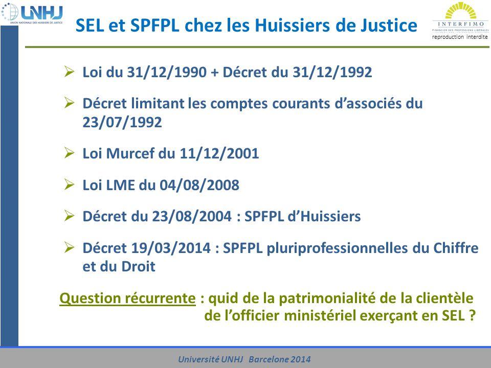 SEL et SPFPL chez les Huissiers de Justice
