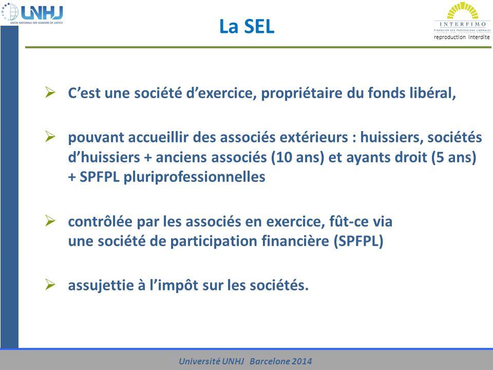 La SEL C'est une société d'exercice, propriétaire du fonds libéral,