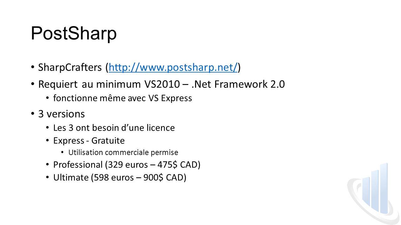 PostSharp SharpCrafters (http://www.postsharp.net/)