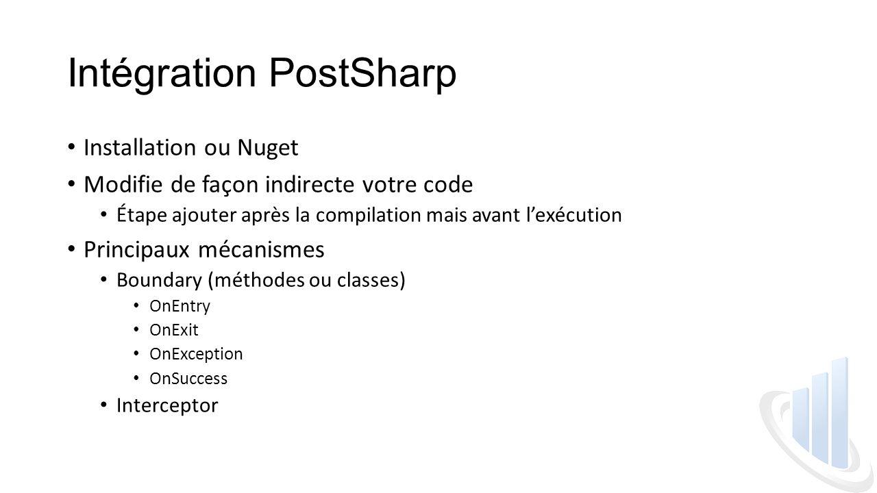 Intégration PostSharp