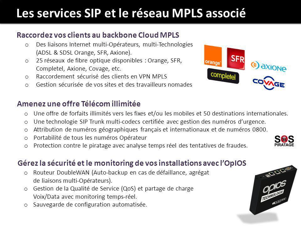 Les services SIP et le réseau MPLS associé