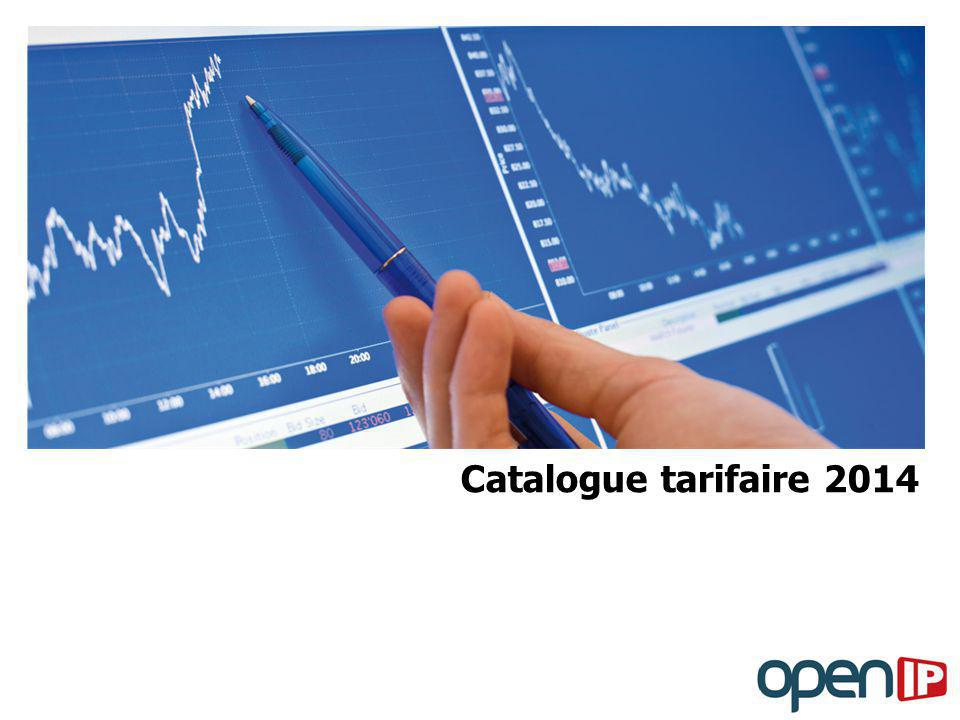 Catalogue tarifaire 2014