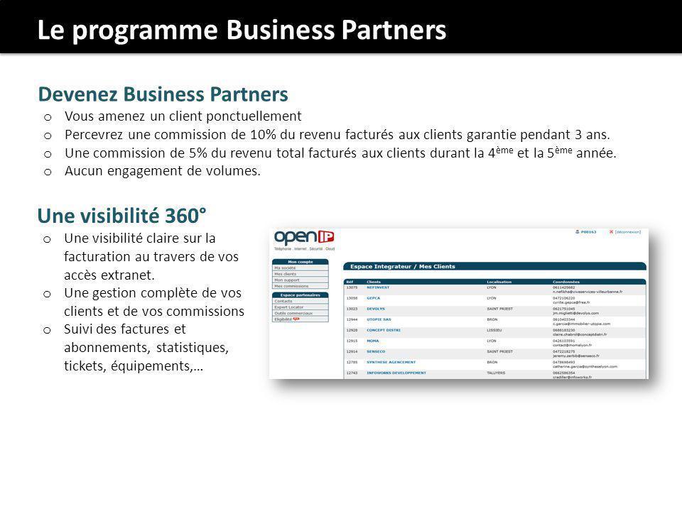 Le programme Business Partners