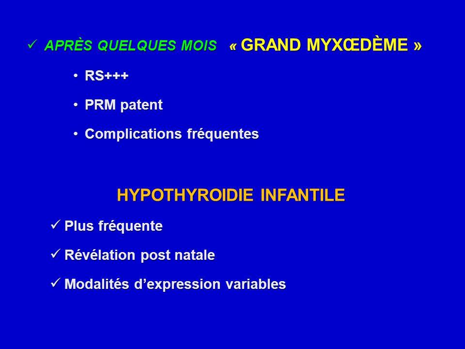 HYPOTHYROIDIE INFANTILE